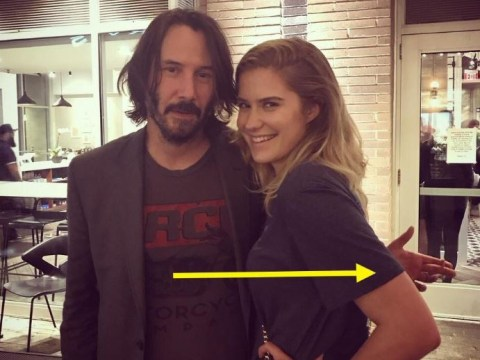 Keanu Reeves praised for 'respectfully' not touching women in photos and it's actually a thing