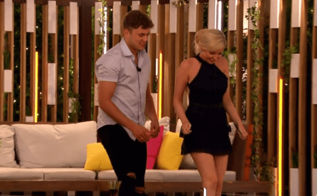 Love Island's Amy Hart and Curtis Pritchard