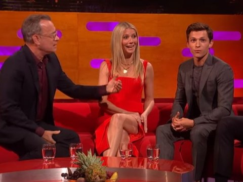 Tom Hanks puts Tom Holland through his acting paces with hilarious coffee lesson