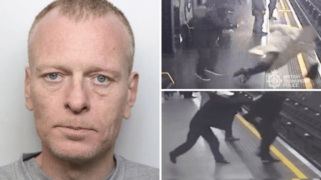 Paul Crossley, 47, shoved two men during the same day