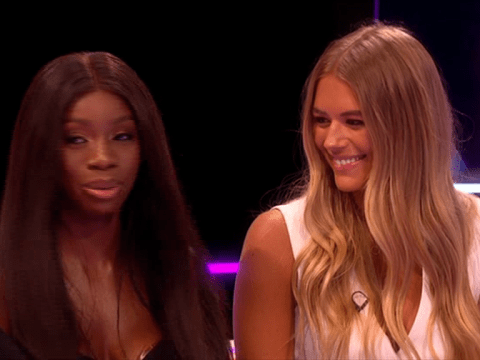 Love Island's Yewande Biala and Arabella Chi suffered multiple awkward moments reuniting on Aftersun