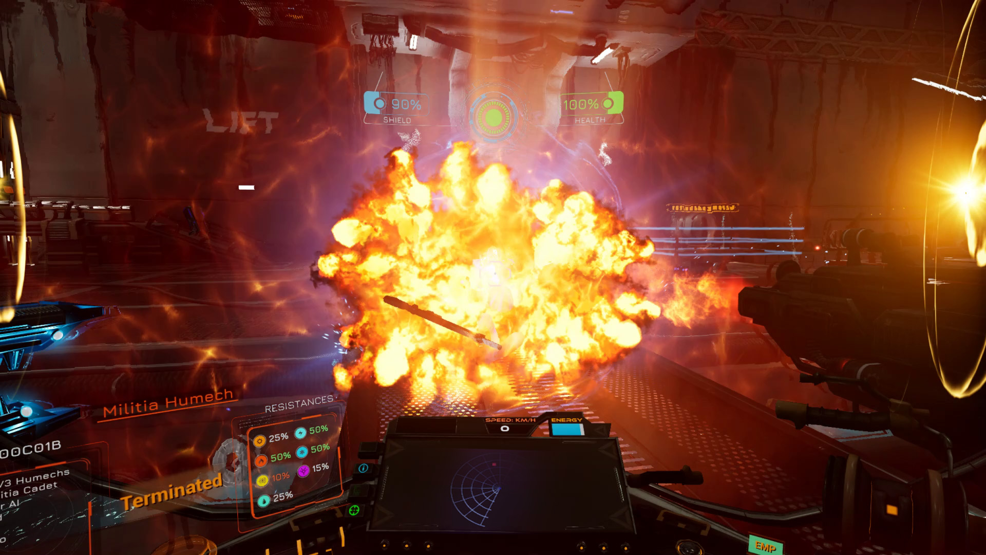 Scraper: First Strike (PSVR) - during slightest a explosions are nice