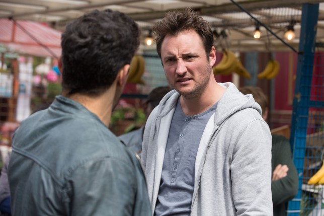 Martin and Kush fight in EastEnders