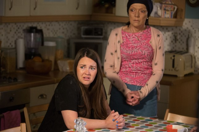 Lacey Turner as Stacey Fowler and Gillian Wright as Jean Slater in EastEnders