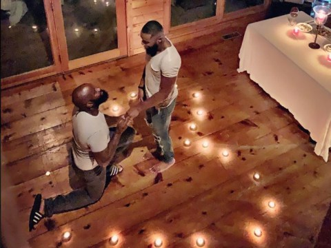 Same-sex couple's simple candlelit proposal at home goes viral