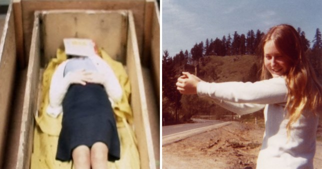 Colleen Stan was trying to hitchhike when she was abducted and forced to live in a wooden coffin (Picture: Channel 5/Splash)