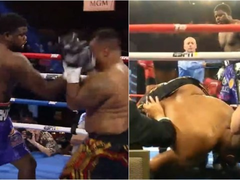 Cassius Chaney knocks heavyweight Joel Caudle out of the ring in brutal first-round TKO