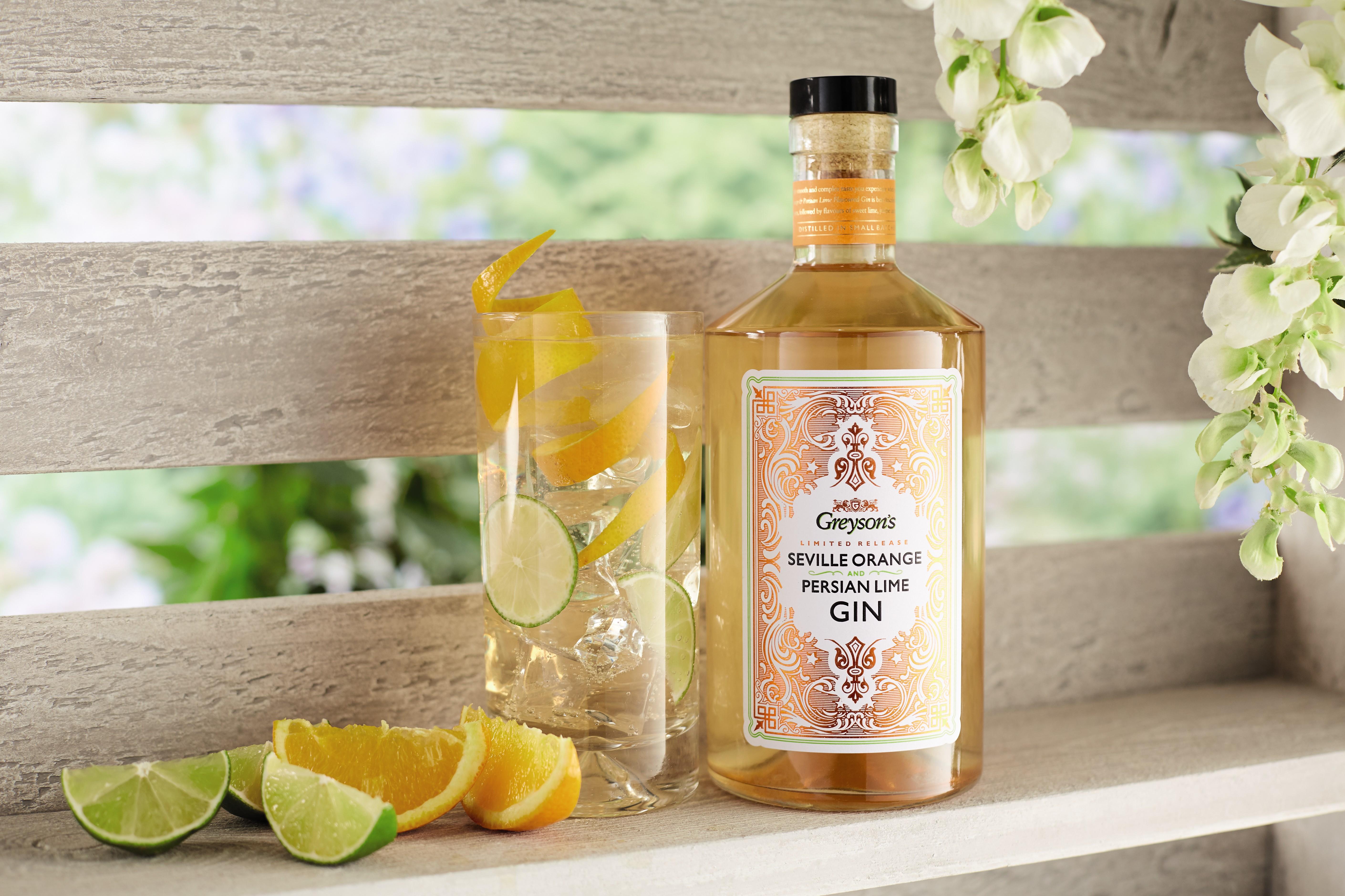Aldi's seville orange and persian orange gin