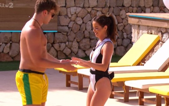 Love Island Curtis teaches Maura how to dance