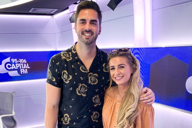 Rob Howard and Dani Dyer in Capital studio