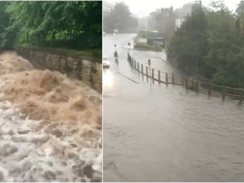 Manchester battered by floods as homes and businesses are left under water