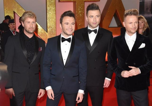 Kian Egan, Shane Filan, Mark Feehily and Nicky Byrne of Westlife