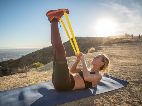 This resistance band workout is perfect for strengthening lazy bum muscles