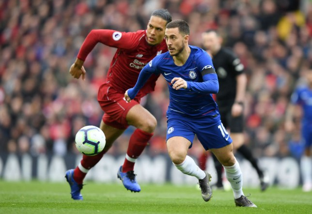 Eden Hazard and Virgil van Dijk