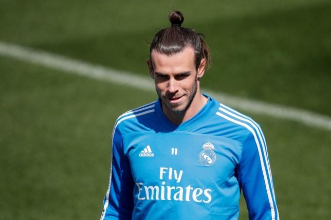 Gareth Bale training with Real Madrid