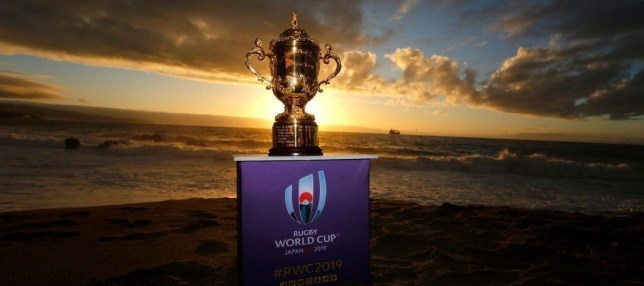 the Rugby World Cup 2019 Trophy