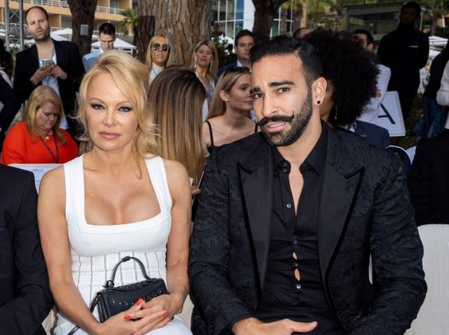 Pamela Anderon with ex Adil Rami