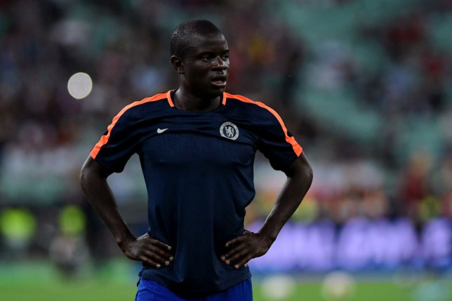 N'Golo Kante was a surprise starter for Chelsea in their Europa League final win over Arsenal