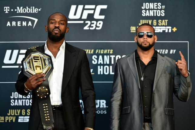 Jon Jones and Thiago Santos