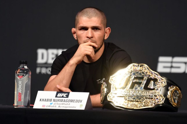 Khabib Nurmagomedov took exception to something Nate Diaz said