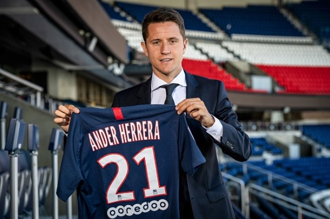 Ander Herrera joined Paris Saint-Germain last week