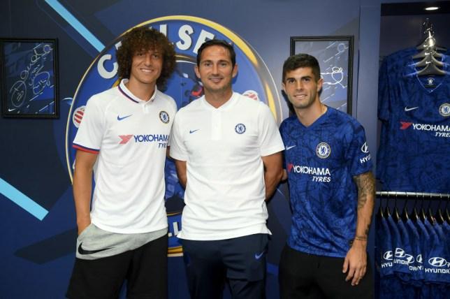 David Luiz, Frank Lampard and Christian Pulisic