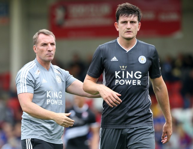 Leicester boss Brendan Rodgers has denied that Manchester United are close to signing Harry Maguire