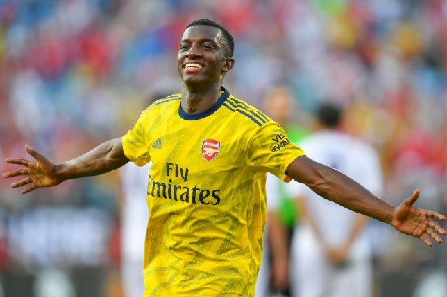 Eddie Nketiah has scored three goals in two matches for Arsenal in pre-season