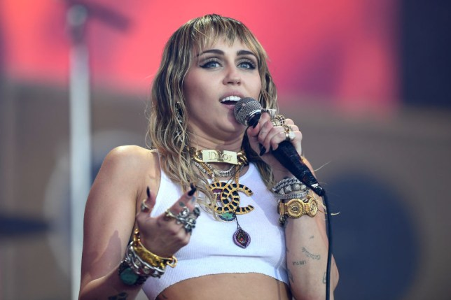Miley Cyrus performs at Glastonbury 2019
