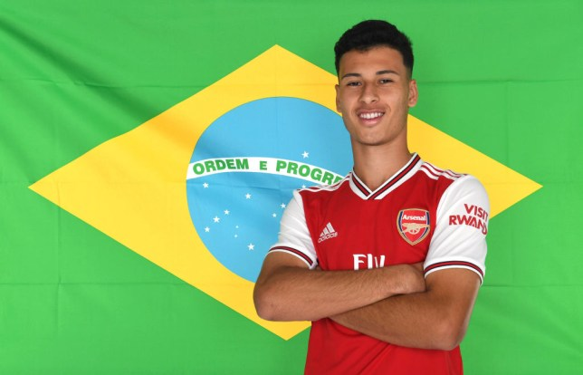 Gabriel Martinelli completed his move to Arsenal last week