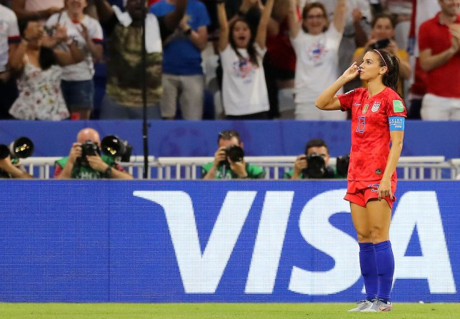 Alex Morgan put the USA back in front