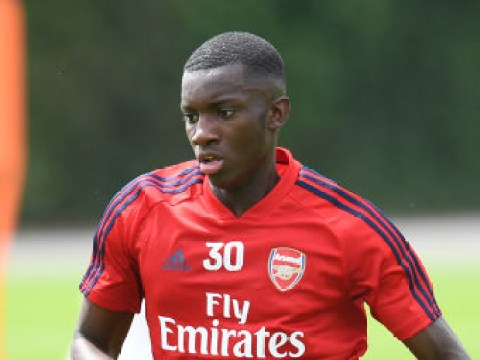 Arsenal preparing to send highly-rated striker Eddie Nketiah on loan to the Championship