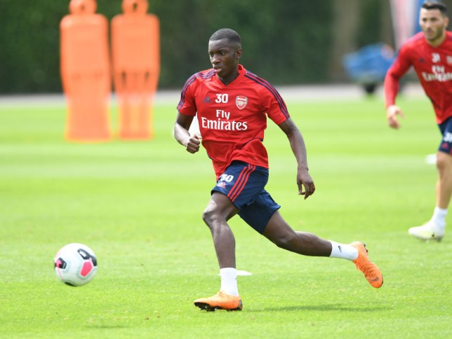 Eddie Nketiah could leave Arsenal on loan
