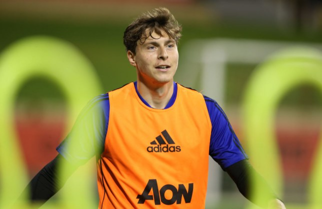 Victor Lindelof training with Manchester United in Australia