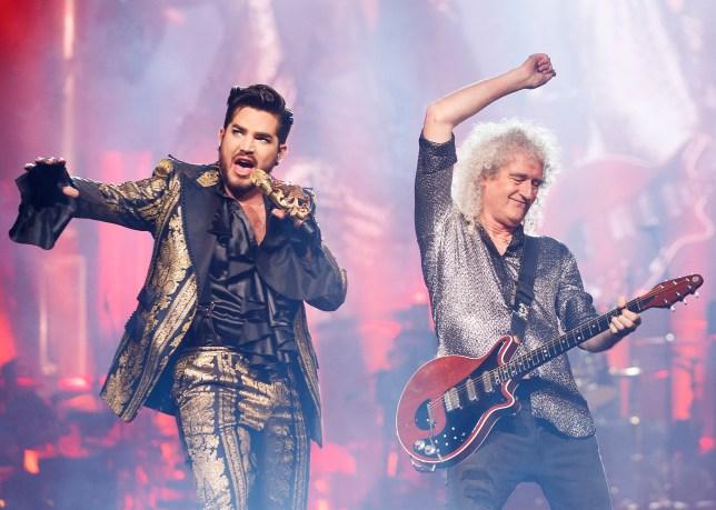 Queen (Brian May) and Adam Lambert