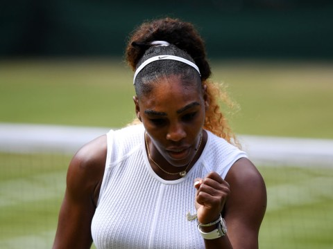 Serena Williams on brink of history as she sets up Simona Halep Wimbledon final