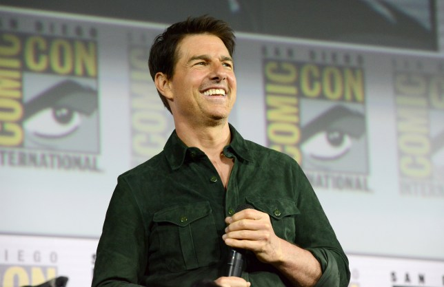 "Tom Cruise discussing ""Top Gun: Maverick"" during 2019 Comic-Con"