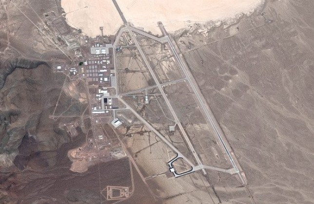 an aerial shot of area 51