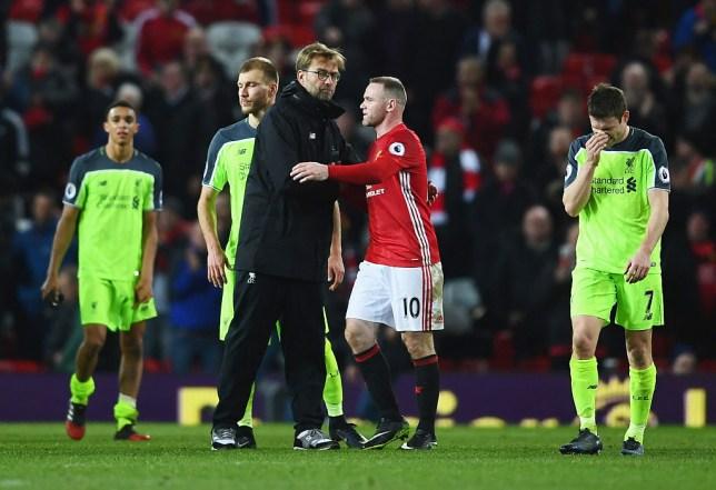 Jurgen Klopp and Wayne Rooney
