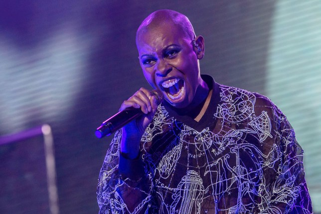 Skin from Skunk Anansie performing