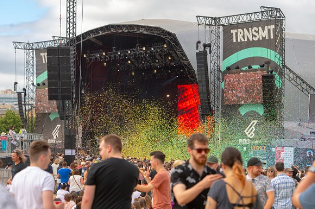 Fans at the main stage of TRNSMT Festival