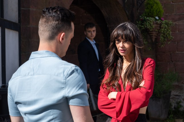 Mercedes and Liam clash in Hollyoaks