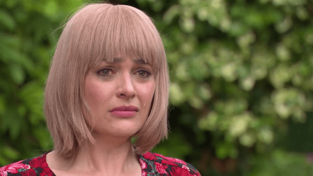 Sienna Blake distraught in Hollyoaks