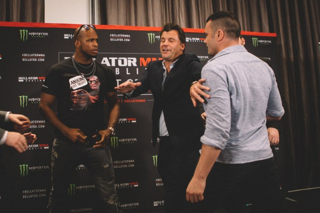 Michael Venom Page and Richard Kiely clashed at the press conference (Picture: Bellator MMA)