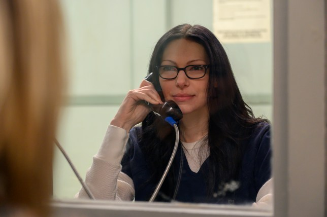 Laura Prepon and Taylor Schilling seen in Orange Is the New