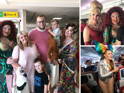 Family accidentally book Pride Flight to New York and have time of their lives