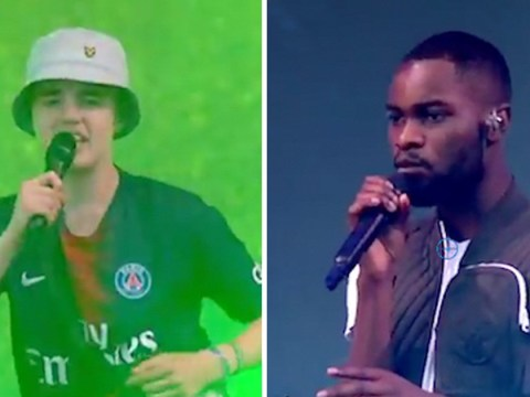 Dave brings random fan on stage at Glastonbury to perform Thiago Silva and he absolutely smashes it