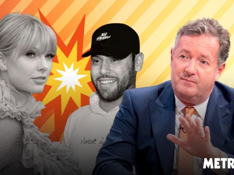 Piers Morgan is surprisingly clued up on Taylor Swift's latest feud with 'highly annoying' Scooter Braun