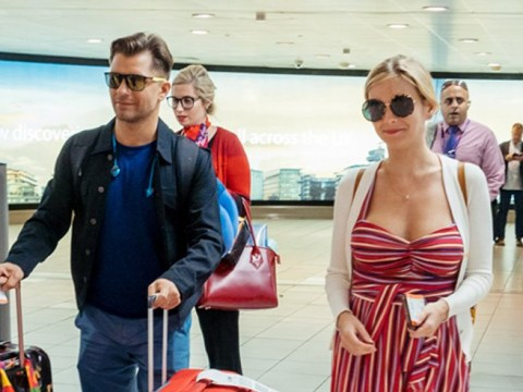 Rachel Riley and Pasha Kovalev fly home as newlyweds after wedding at $39 Vegas chapel