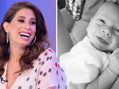 Stacey Solomon's newborn son peed on her sister in Pizza Hut